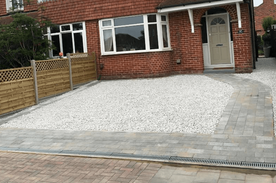 Portsmouth driveway laid